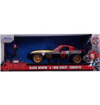 Jada Toys - Marvel Black Wido 1966 Chevy Corvette 1:24