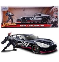 Jada Toys - Marvel Venom 2008 Dodge Viper SRT10 1:24
