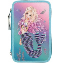 Depesche - Fantasy Model - 3-Fach Federtasche Streichpaillette Mermaid