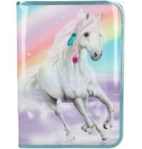 Depesche - Miss Melody - große Federtasche Rainbow
