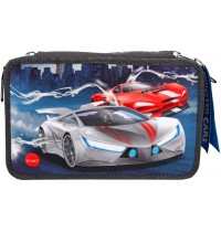 Depesche - Monster Cars - 3-Fach Federtasche LED