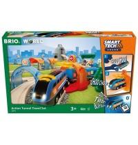 BRIO Bahn - Smart Tech Sound Action Tunnel Reisezug Set