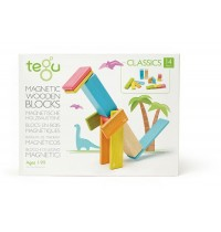 Tegu - Magnetisches Holzset farbig 14 Teile
