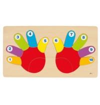 goki 57875 Einlegepuzzle Hände