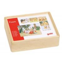 Goki Würfelpuzzle MärchEnte Nelli aus Holz, 20 Würfel