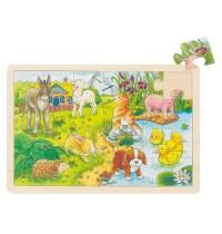 EinlegePuzzle Tierkinder 24T.