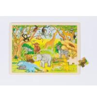 goki 57892 Einlegepuzzle Afrika mit 48 Teilen