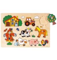 Steckpuzzle Bauernhof VI