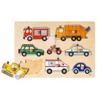 Steckpuzzle Verkehrsmittel