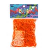 Rainbow Loom - Gummibänder orange 600 Stück