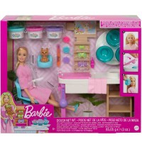 Mattel - Barbie Wellness Gesichtsmasken Spielset mit Puppe blond mit Knete
