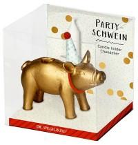 Die Spiegelburg - Partyschwein golden Viel Glück