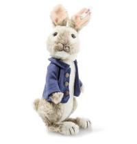 Steiff - Peter Rabbit 20cm Mohair graubraun/weiß stehend