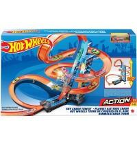 Mattel - Hot Wheels® Himmelscrash-Turm inkl. 1 Spielzeugauto