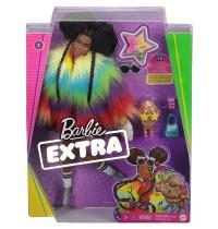 Mattel - Barbie Extra Puppe mit Afro und Regenbogen-Jacke