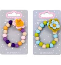 Holz-Armband mit Blume beauti