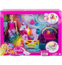 Mattel - Barbie - Dreamtopia Prinzessin Puppe inkl. Einhorn mit Farbwechsel