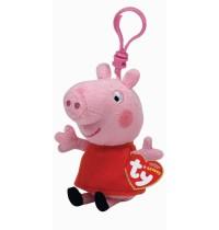 Ty Plüsch - Beanie Babies - Peppa Clip - Schwein Schlüsselanhänger 8.5cm