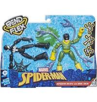 Hasbro - Marvel Spider-Man Bend and Flex Black Suit Spider-Man gegen Doc Ock