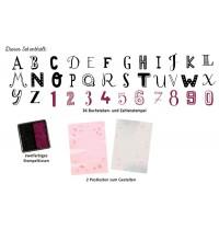 Stempel-Set Buchstaben & Zahl