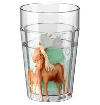 Glitzerbecher Pferde