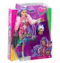 Mattel - Barbie Extra Puppe mit lila-welligem Haar