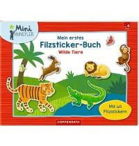 Coppenrath Verlag - Mini-Künstler - Mein erstes Filzsticker-Buch: Wilde Tiere