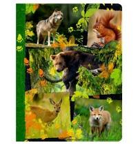 Coppenrath Verlag - Nature Zoom - Tagebuch mit Reißverschluss - Waldtiere