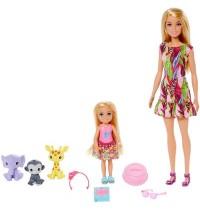 Mattel - Barbie - und Chelsea Dschungelabenteuer Schwestern-Spielset