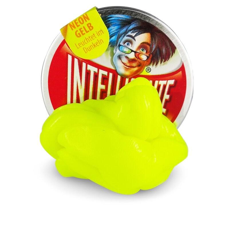 Knete 18g Neon Gelb Intelligente Knete in der kleinen Dose Ø 5cm