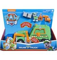 Spin Master - Paw Patrol - Rockys Deluxe-Recycling-Truck mit Sammelfigur und 3 Werkzeugen