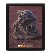 SW Mandalorian Poster 3D Star Wars: The Mandalorian 3D-Effekt Poster Pack im Rahmen Grogu 26 x 20 cm