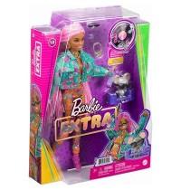 Mattel - Barbie Extra Puppe mit pinken Flechtzöpfen