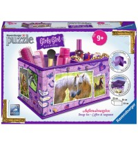 Ravensburger Puzzle - 3D Puzzles - Girly Girl Edition Aufbewahrungsbox Pferde, 216 Teile