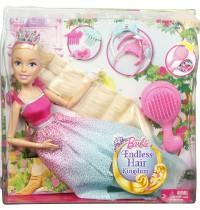 Mattel - Barbie - 4 Königreiche - Große Zauberhaar-Prinzessin Blond