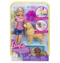 Mattel - Barbie Hundemama, Welpen und Puppe