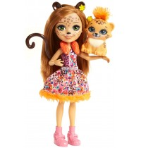 Mattel - Enchantimals - Gepardenmädchen Cherish Cheetah Puppe