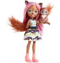Mattel - Enchantimals - Eichhörnchen-Mädchen Sancha Squirrel Puppe