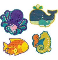 Petit Collage - Beginner Puzzle Fische 3/4/5/6 Teile