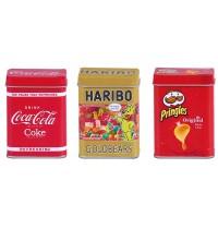 0056.6 Metalldosen Set Haribo, CoCarrera® Cola und Pringles